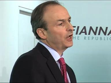 Ceannaire Fhianna Fáil. Micheál Martin