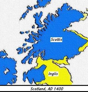 An Ghaeltacht mar a bhí in 1400