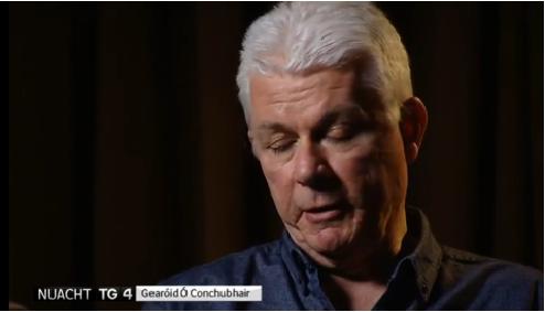 Gearóid Ó Conchubhair ag caint ar Nuacht TG4 [Pic : Screengrab ó TG4]