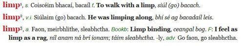 limp de bhaldraithe