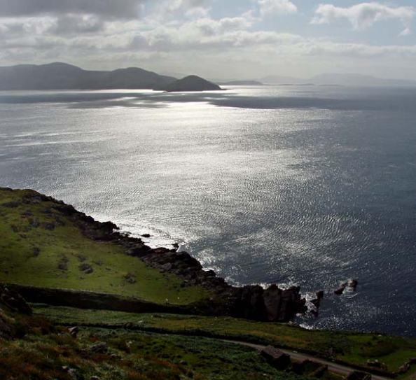 photo by Eoin Mac Lochlainn of panaroma o the sea at Cill Rialaig